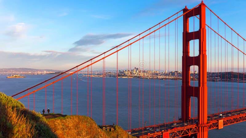 San Francisco City - Horizon van de stad van San Francisco stock afbeelding