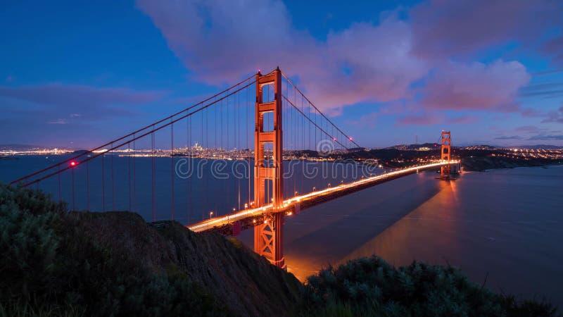 San Francisco City - Horizon van de stad van San Francisco royalty-vrije stock afbeelding