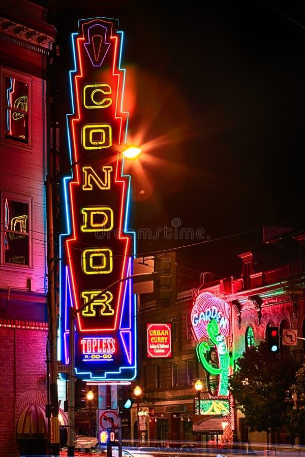 San Francisco - clube em topless do condor fotografia de stock