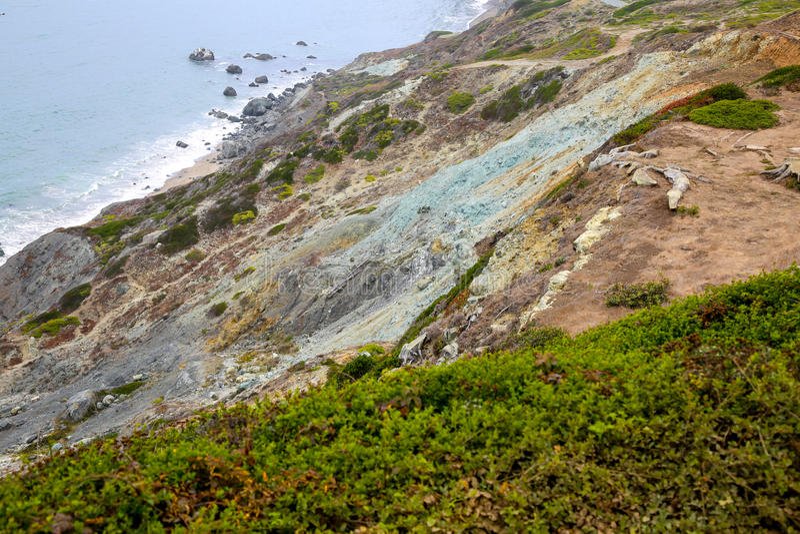 San Francisco Coast Cliff royalty free stock photos