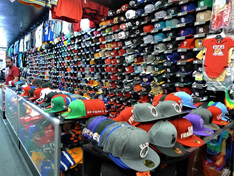 San Francisco, a colorful hat shop royalty free stock images