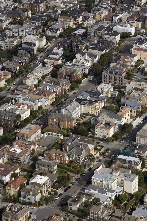 San Francisco Colorful Neighborhood stock images