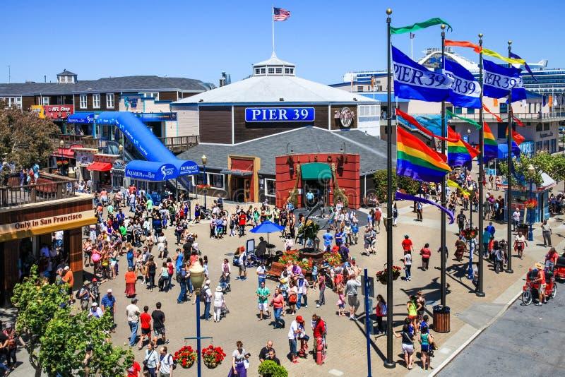 San Francisco Colorful Pier 39 fotos de archivo