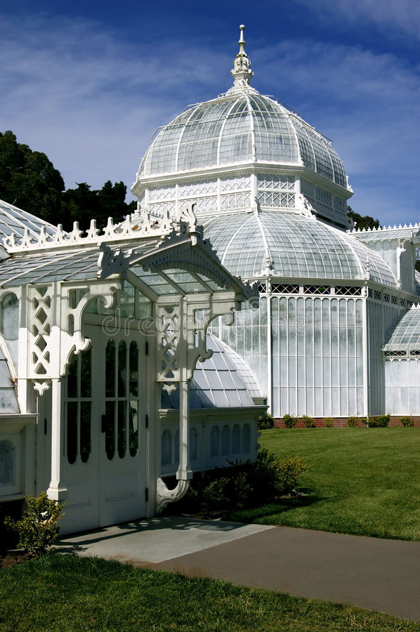 San Francisco Conservatory of Flowers stock photo