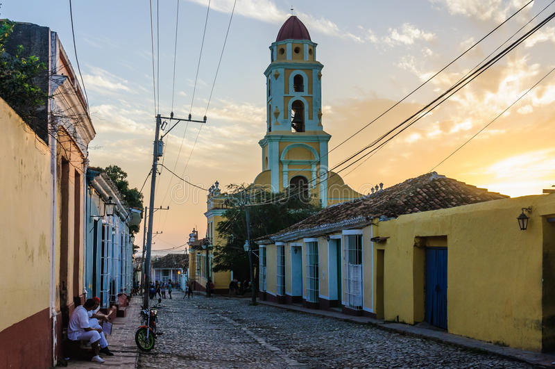 San Francisco Convent i Trinidad, Kuba arkivfoton