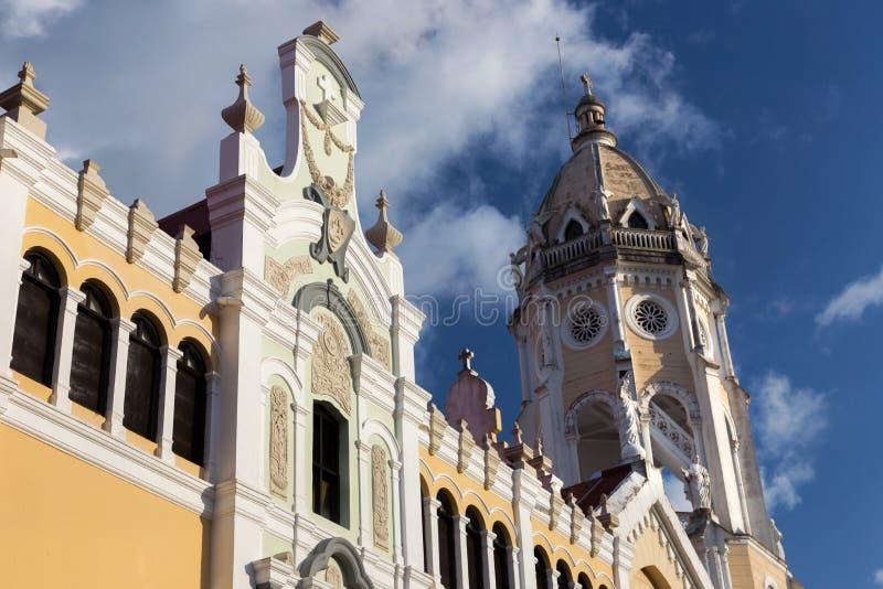 San Francisco De Asis Cathedral Panama City Casco Viejo old Architecture Unesco World Heritage stock photo