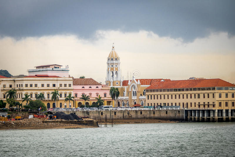 San Francisco de Asis Church in Casco Viejo - Panamá, Panama immagine stock