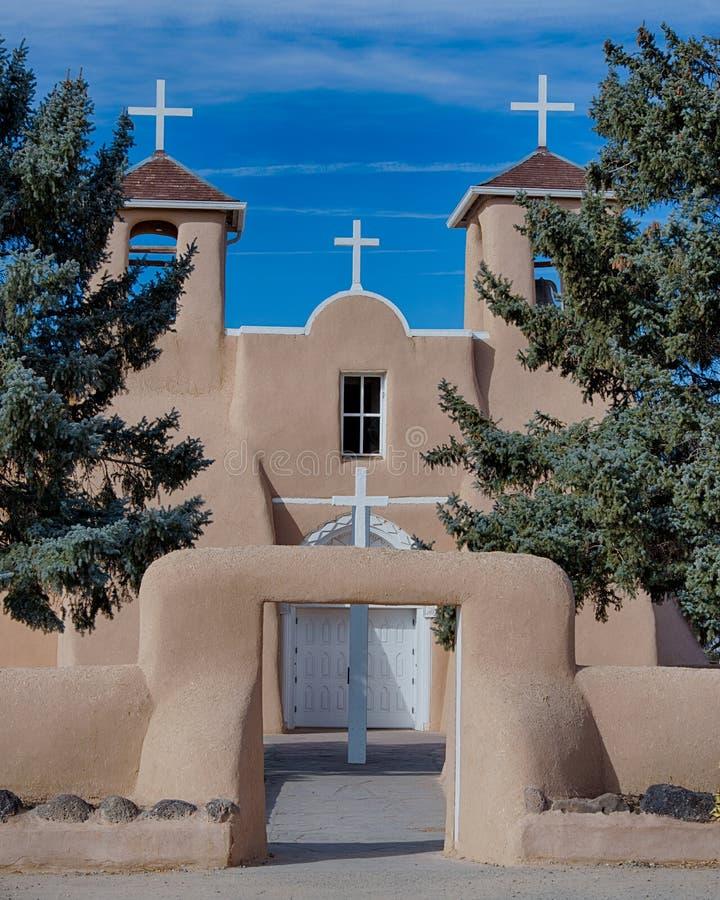 San Francisco de Asis Mission Church. In Ranchos de Taos, New Mexico royalty free stock image