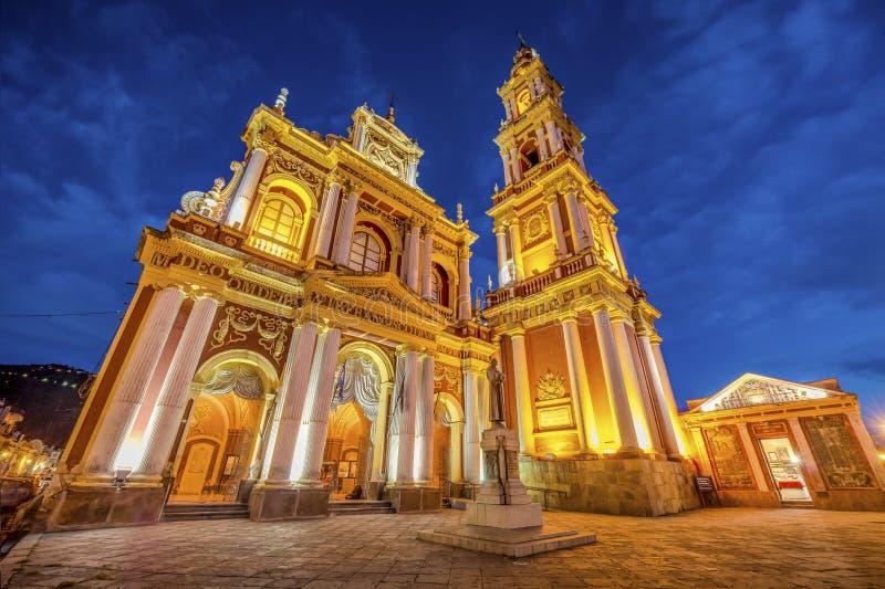 San Francisco in de stad van Salta, Argentinië stock foto's