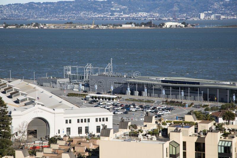 San Francisco Docklands lizenzfreie stockbilder