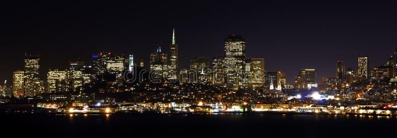 San Francisco door nigth royalty-vrije stock foto's