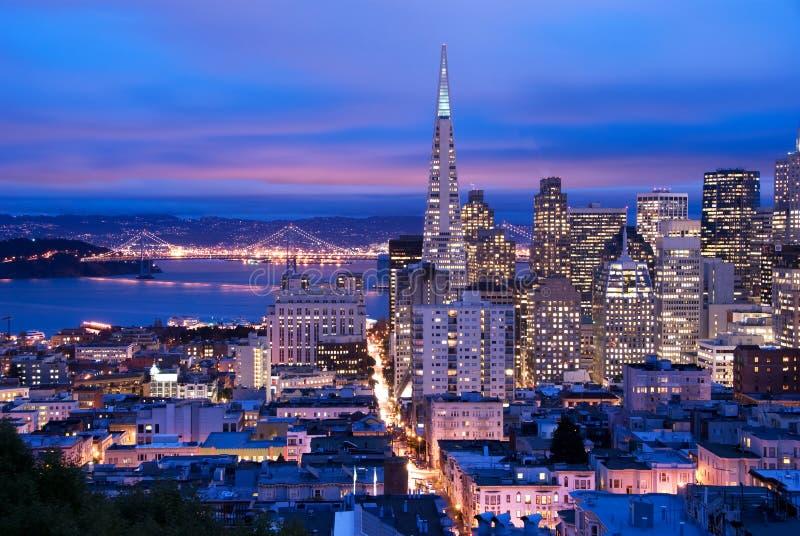 San Francisco at dusk stock photo