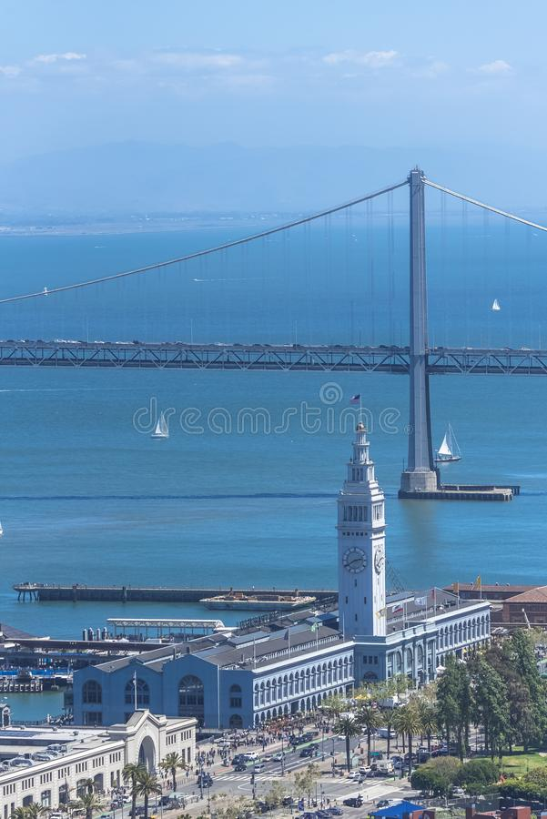 San Francisco, el Embarcadero imagenes de archivo