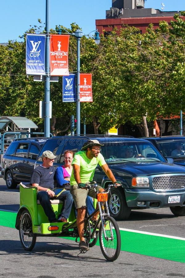 Free San Francisco Embarcadero Pedicab Bicycle Taxi Royalty Free Stock Photo - 37130185