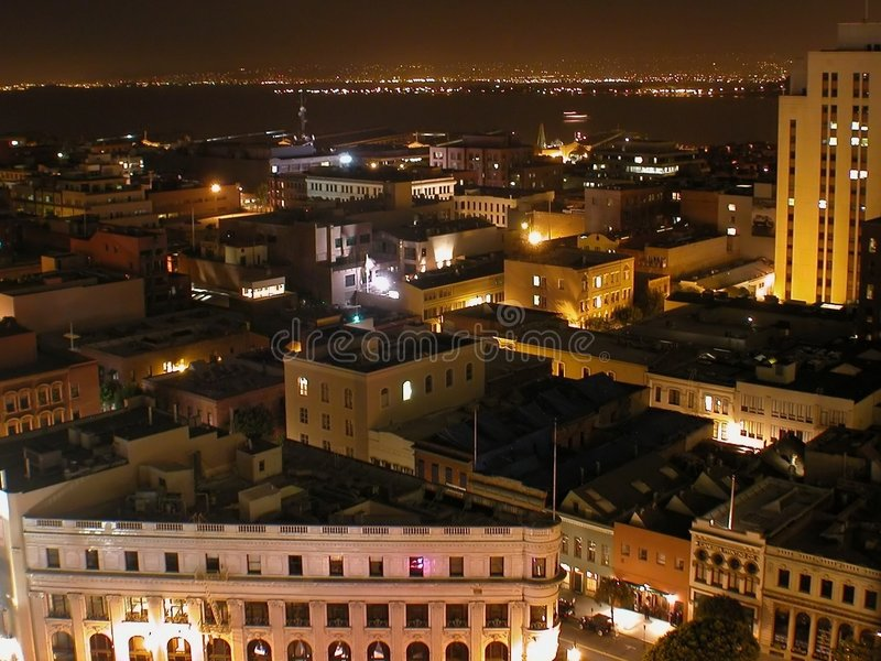 San Francisco entro la notte immagini stock libere da diritti