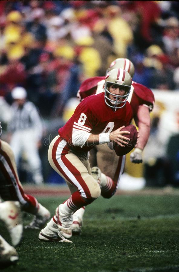 San Francisco 49ers QB, Steve Young royalty-vrije stock afbeelding