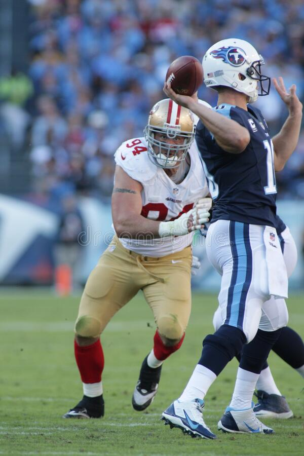 Justin Smith. San Francisco 49ers right defensive tackle Justin Smith royalty free stock image