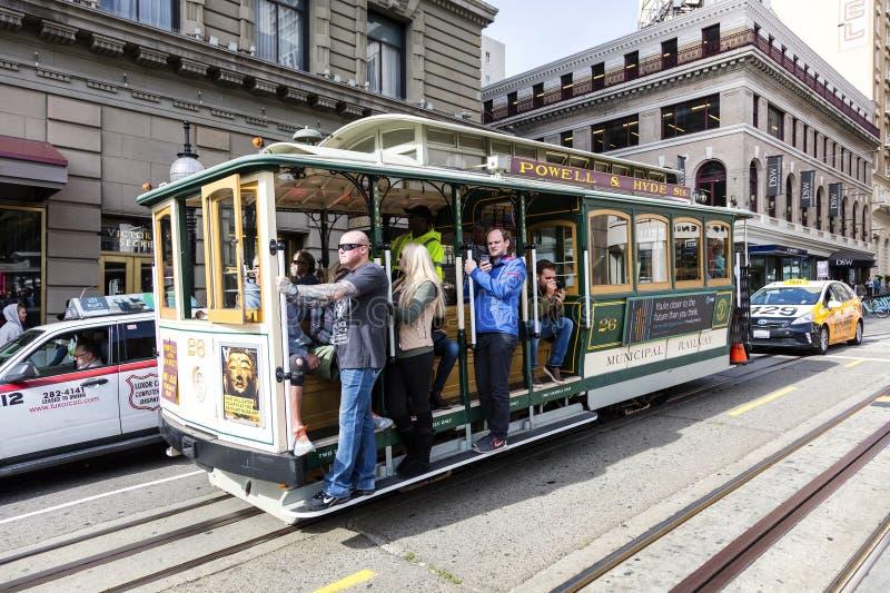 San Francisco, Etats-Unis, le tram de funiculaire photo stock
