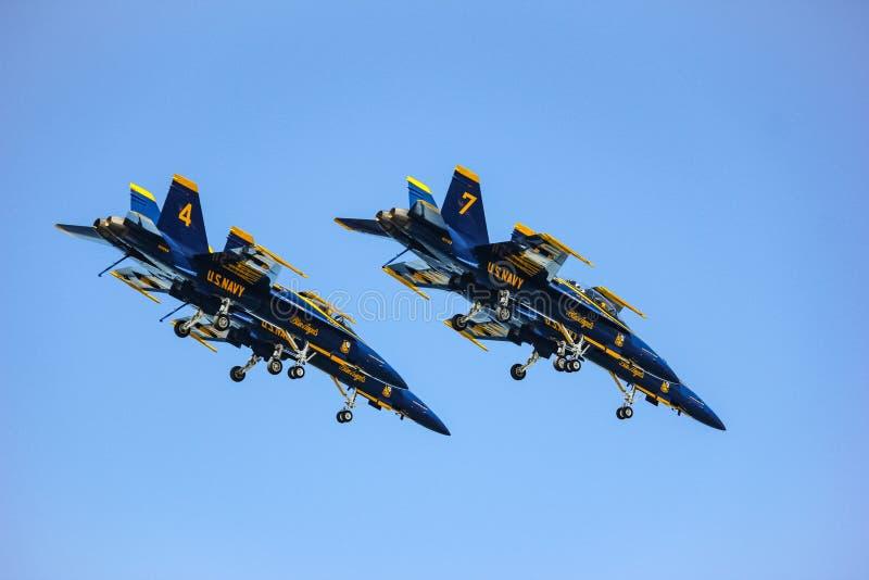 San Francisco, Etats-Unis - 8 octobre : Anges de bleu marine des USA pendant l'exposition dans la semaine de flotte de SF le 8 oc image libre de droits