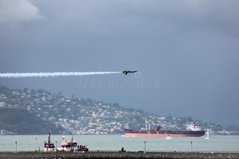 San Francisco, Etats-Unis - 8 octobre : Anges de bleu marine des USA pendant l'exposition dans la semaine de flotte de SF le 8 oc photos stock