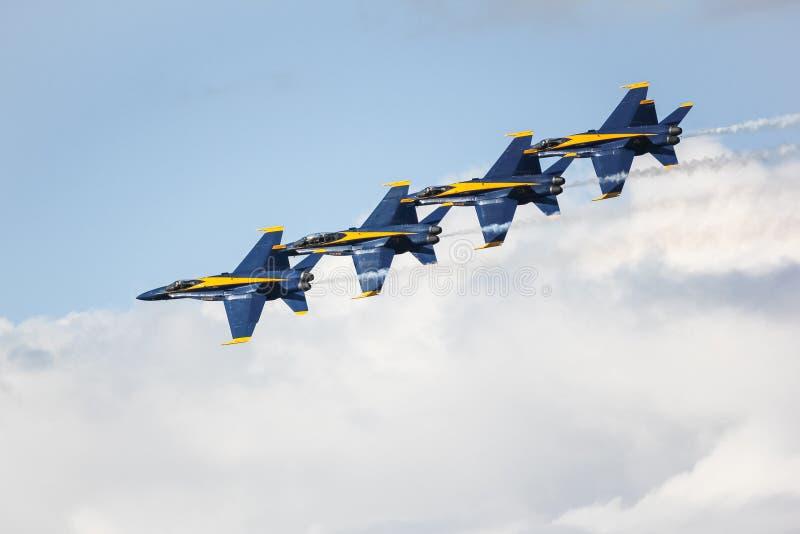 San Francisco, Etats-Unis - 8 octobre : Anges de bleu marine pendant l'exposition dans la semaine de flotte de SF le 8 octobre 20 photo stock