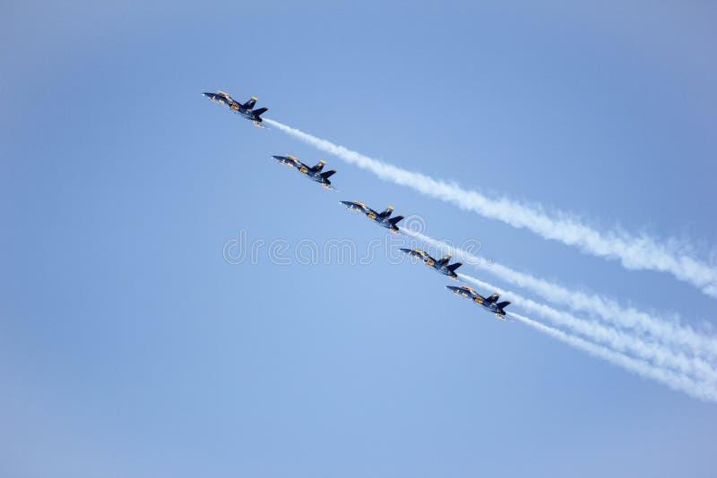 San Francisco, Etats-Unis - 8 octobre : Anges de bleu marine pendant l'exposition dans la semaine de flotte de SF le 8 octobre 20 images libres de droits