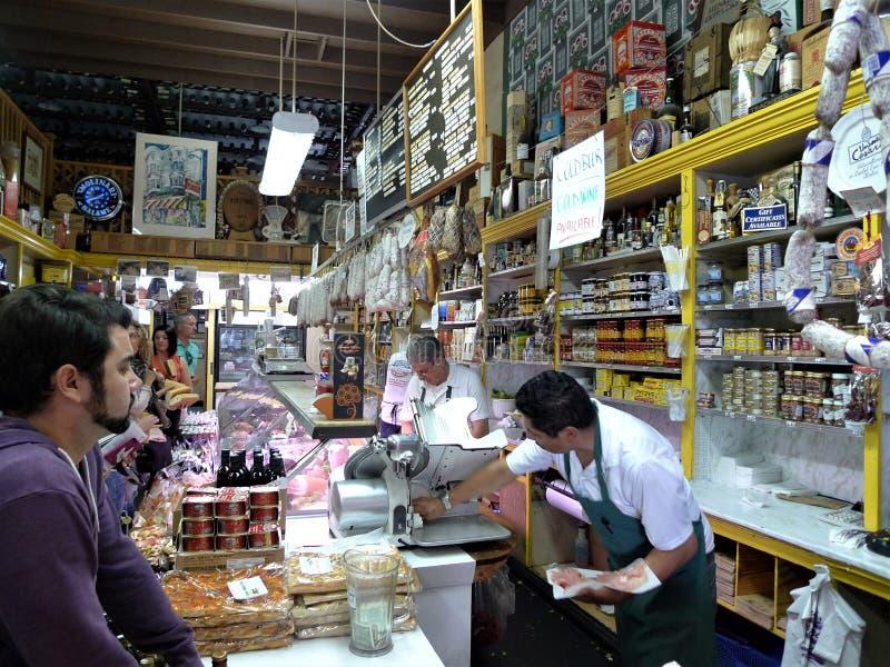San Francisco ett italienskt matlager arkivfoton