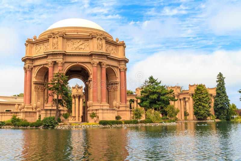 San Francisco, Exploratorium und Palast der schöner Kunst lizenzfreie stockbilder