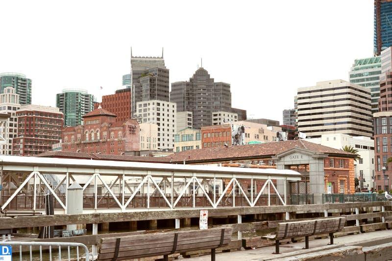 San Francisco finansiellt område arkivfoton
