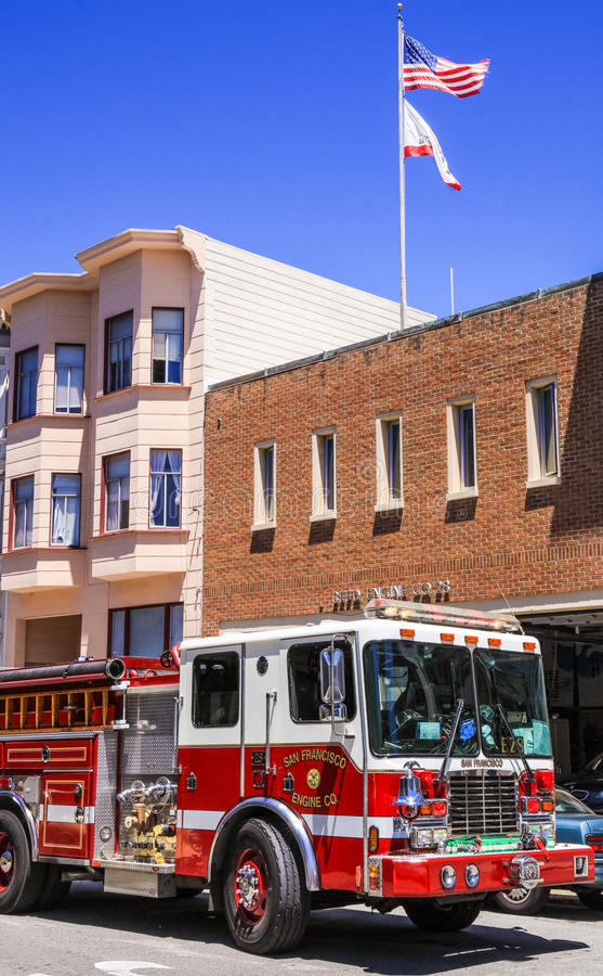San Francisco Fire Engine Company 28 royalty free stock photo