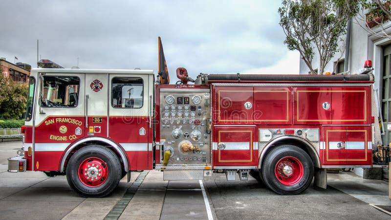 San Francisco Fire Truck stock fotografie