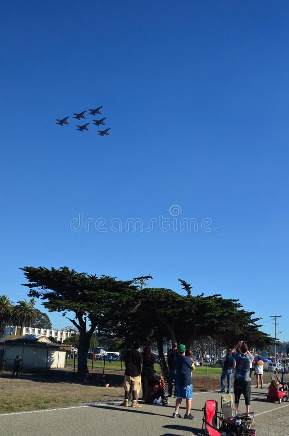 San Francisco Fleet Week 2014 arkivbilder