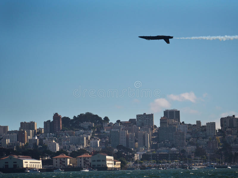 San Francisco Fleet Week flygshow royaltyfri bild