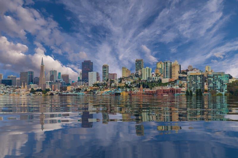 San Francisco Flooded royalty free stock image