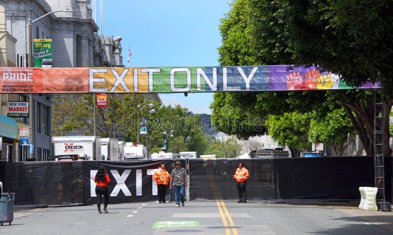 San Francisco Gay Pride Festival fotos de archivo libres de regalías