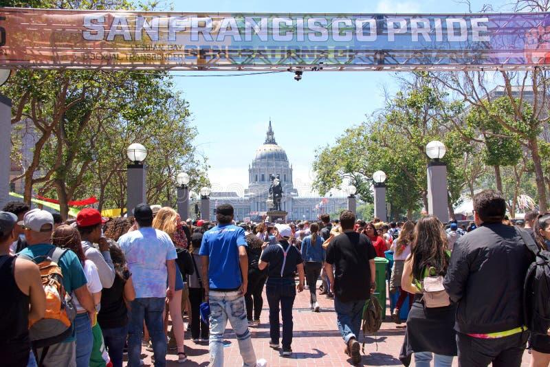 San Francisco Gay Pride Festival image stock