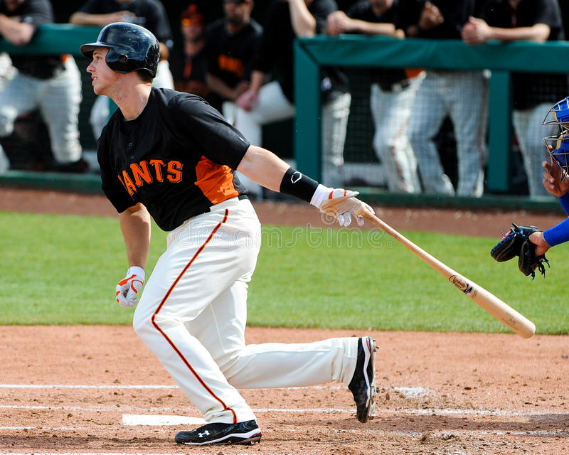 San Francisco Giants Catcher #28 Buster Posey foto de stock royalty free
