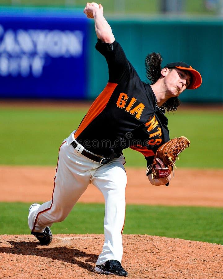 San Francisco Giants Pitcher #55 Tim Lincecum. photo stock
