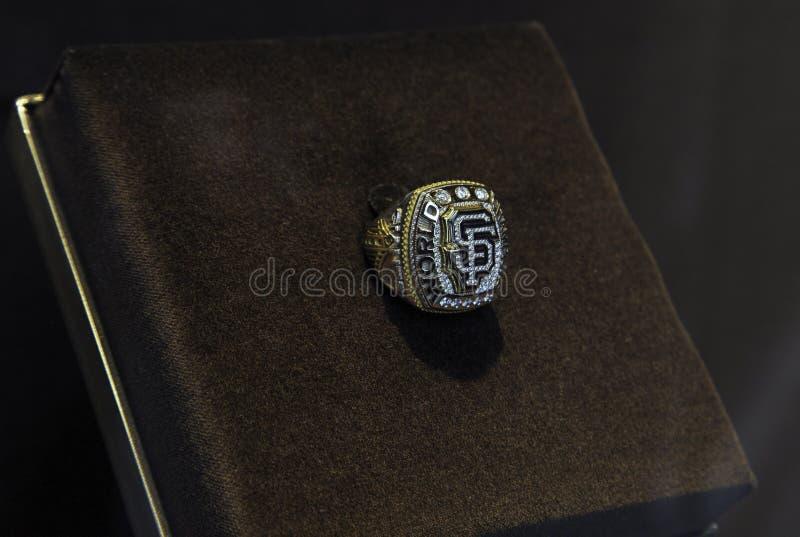 San Francisco Giants World Series Ring imágenes de archivo libres de regalías