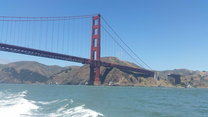 San Francisco golden gate bridge är en av de högsta iconic gränsmärkena i världen arkivfoton