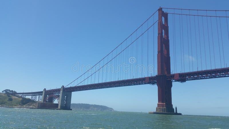 San Francisco golden gate bridge är en av de högsta iconic gränsmärkena i världen arkivbild
