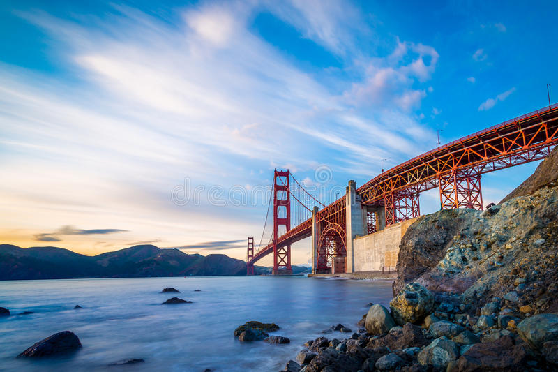 San Francisco golden gate bridge photos libres de droits