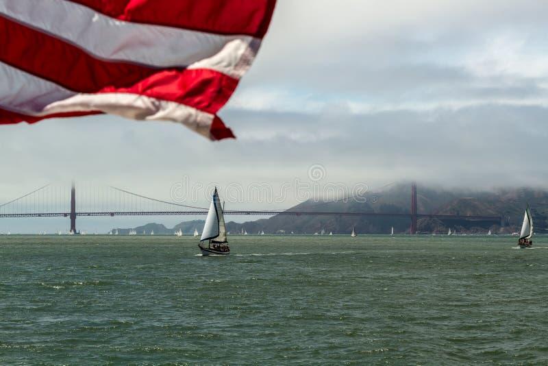 San Francisco golden gate bridge fotografie stock