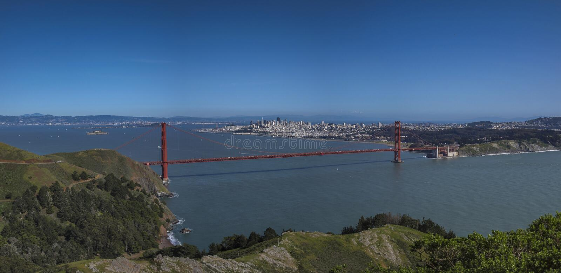 San Francisco and Golden Gate Bridge Landscape stock photos