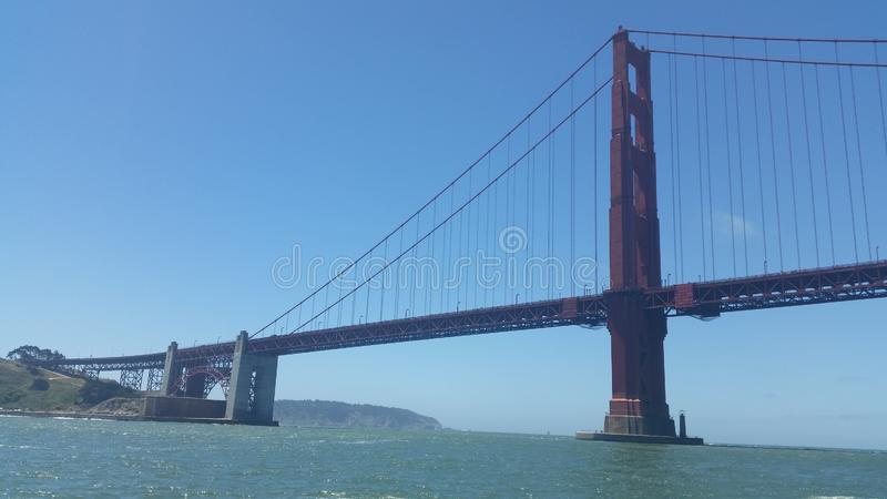 San Francisco golden gate bridge is one of the highest iconic landmarks in the world stock photography