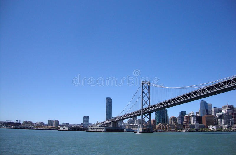 Download San Francisco Half Of The Bay Bridge From Water Stock Image - Image: 14605619