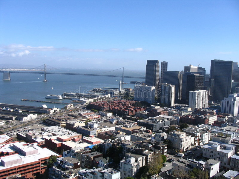 San Francisco Harbour royalty free stock photography