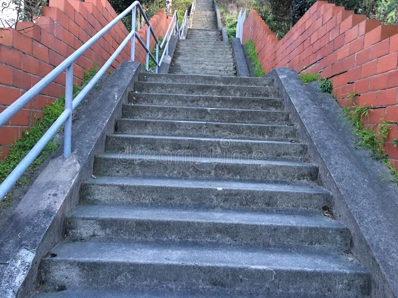 15Th Avenue steps, one of San Francisco`s smallest, UNofficial parks, 1. San Francisco has many beautiful, and well known, parks, as well as hills. There are stock image