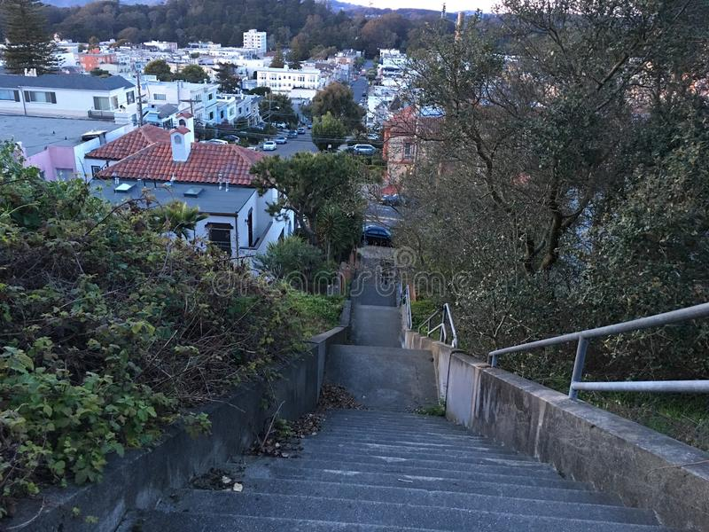 15Th Avenue steps, one of San Francisco`s smallest, UNofficial parks, 6. San Francisco has many beautiful, and well known, parks, as well as hills. There are royalty free stock photography