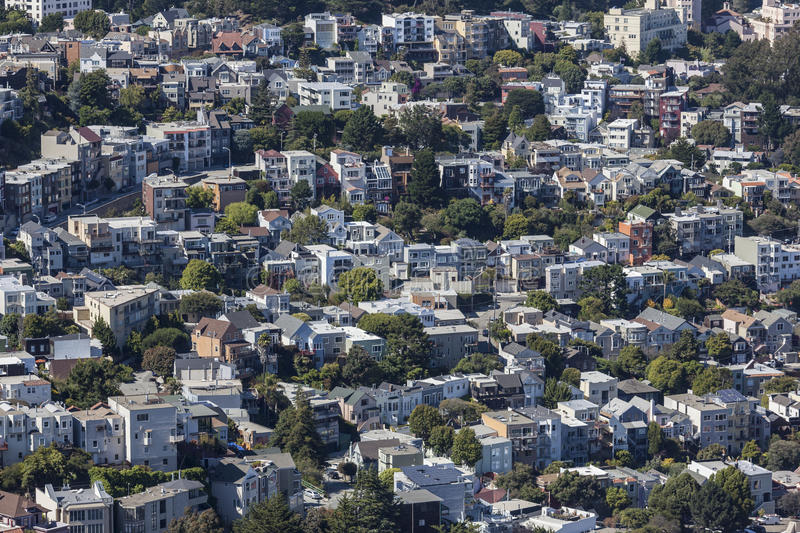 San Francisco Hillside Neighborhood fotos de stock